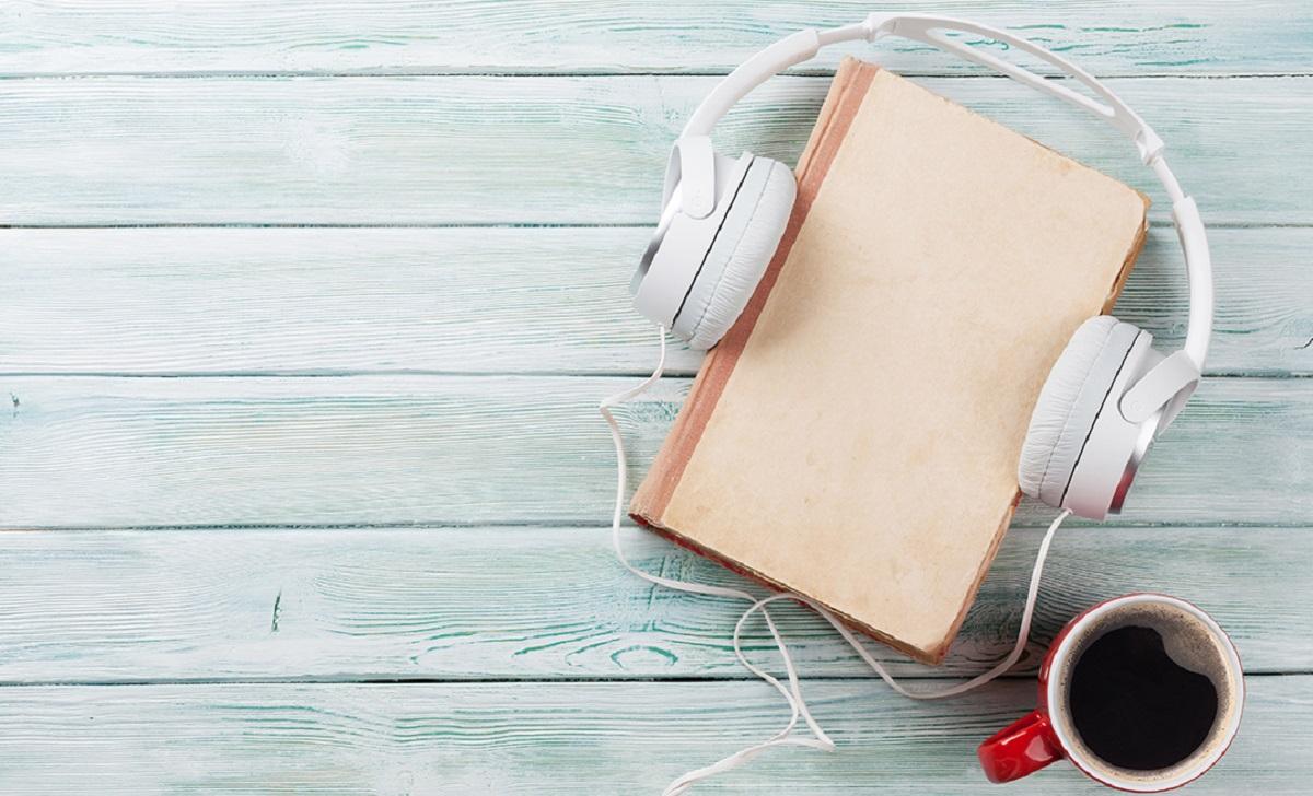 Headphones and a coffee mug